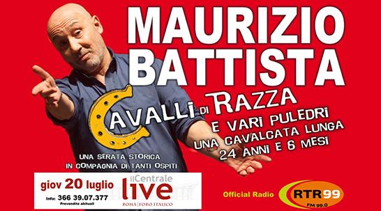 """Maurizio Battista va in scena con i suoi """"Cavalli di razza e puledri""""!"""