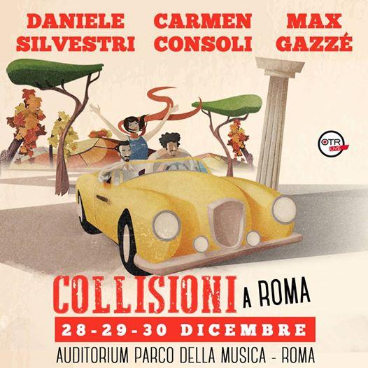 Collisioni: Silvestri, Gazzè e Consoli suoneranno insieme a Roma!