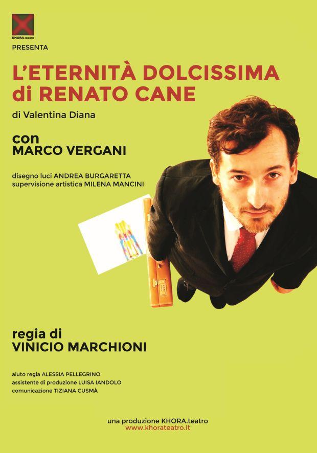 """""""L'eternità dolcissima di Renato Cane"""": il monologo di Vinicio Marchioni"""