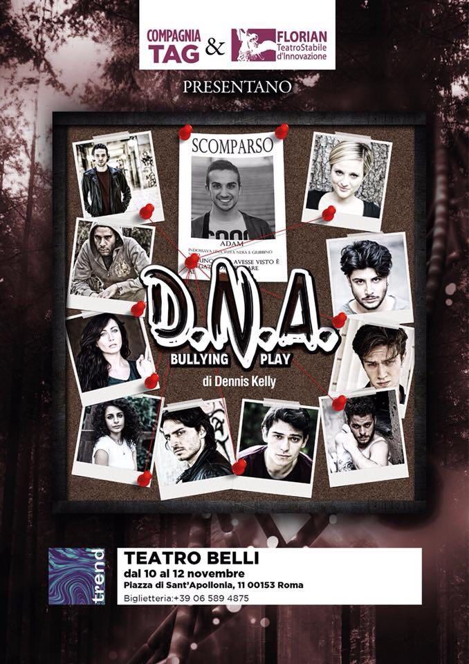 """""""D.N.A. – Bulling Play"""": lo spettacolo in scena al Teatro Belli di Roma!"""