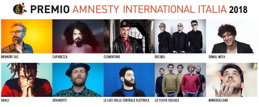 Una canzone per i diritti umani: Premio Amnesty International Italia 2018