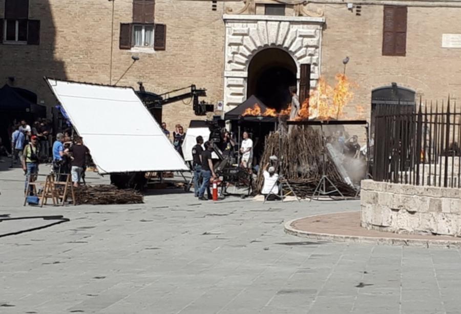 """""""Il nome della rosa"""": sono in corso le riprese a Perugia"""