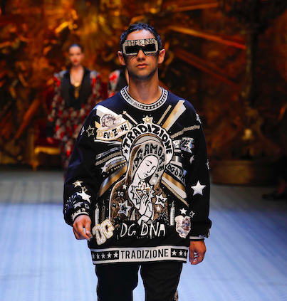 Cosmo: la star della nuova musica modello per Dolce & Gabbana