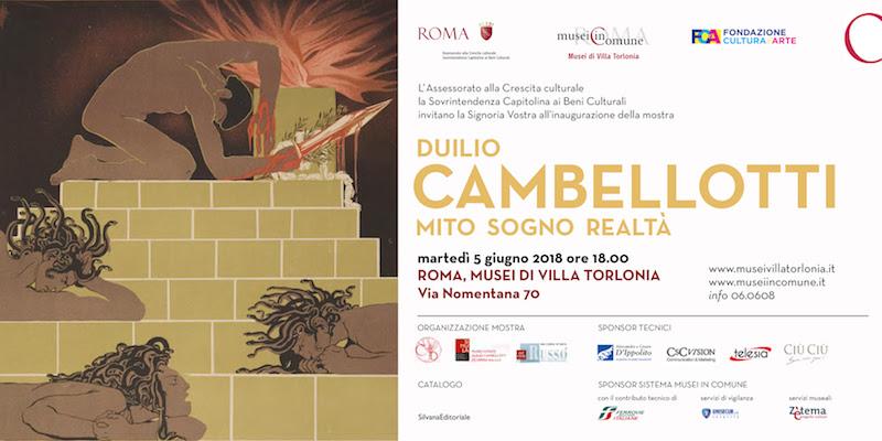 """""""Mito, sogno e realtà"""": Duilio Cambellotti in mostra a Roma a Villa Torlonia"""