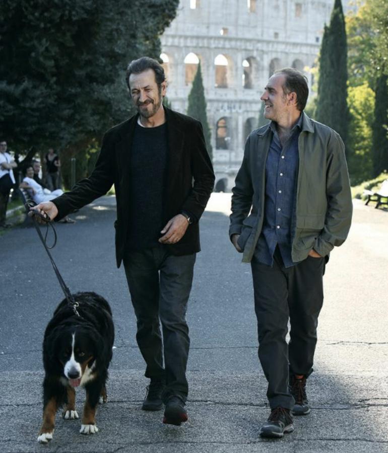 """""""Domani è un altro giorno"""": Marco Giallini e Valerio Mastandrea sul set"""