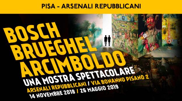 """""""Bosch, Brueghel, Arcimboldo"""" in mostra digitale a Pisa"""