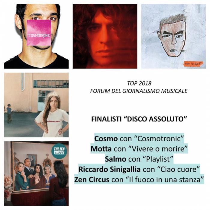"""""""Top 2018"""" – Forum del giornalismo musicale: i migliori album del 2018"""