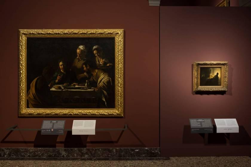 Caravaggio e Rembrandt in mostra alla Pinacoteca di Brera