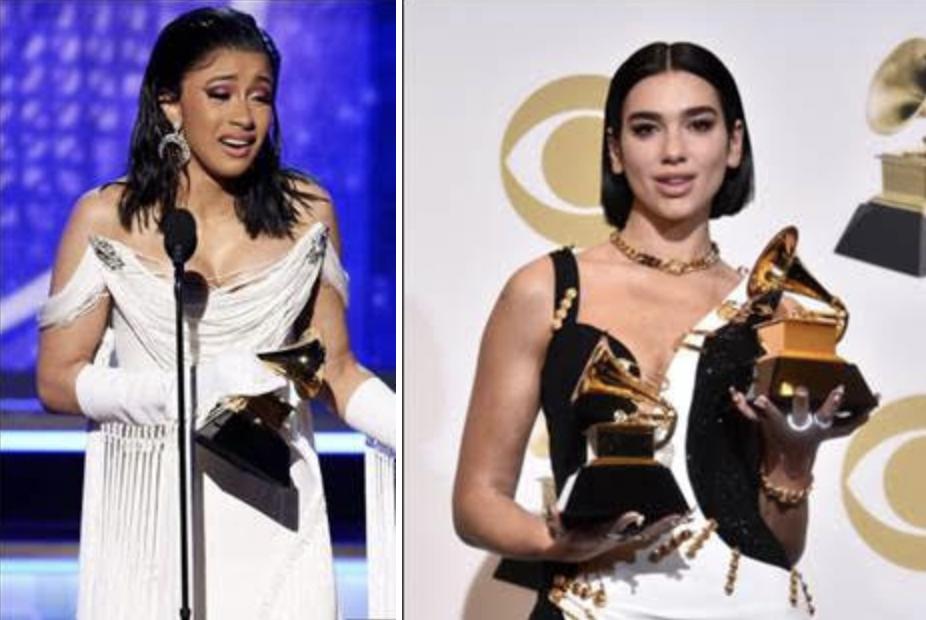 Grammy Awards 2019: vincono Cardi B e Dua Lipa