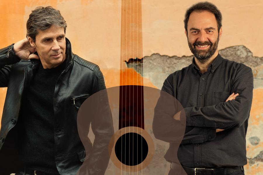 """""""Una chitarra per due"""": Luca Barbarossa e Neri Marcorè a Roma"""