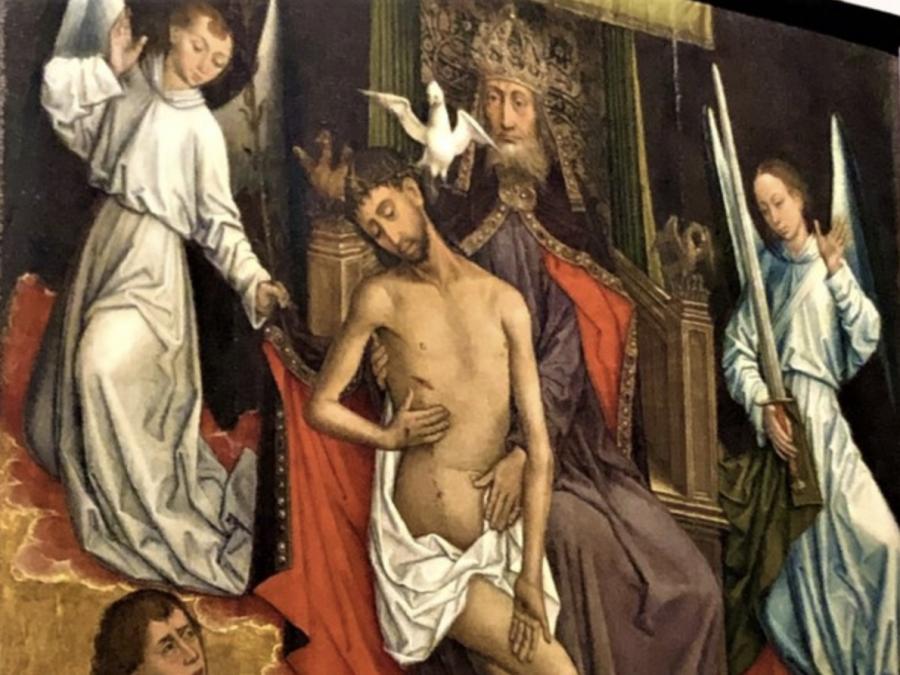 """Il restaurato """"Trono di Grazia"""" in esposizione nella Pinacoteca Vaticana"""