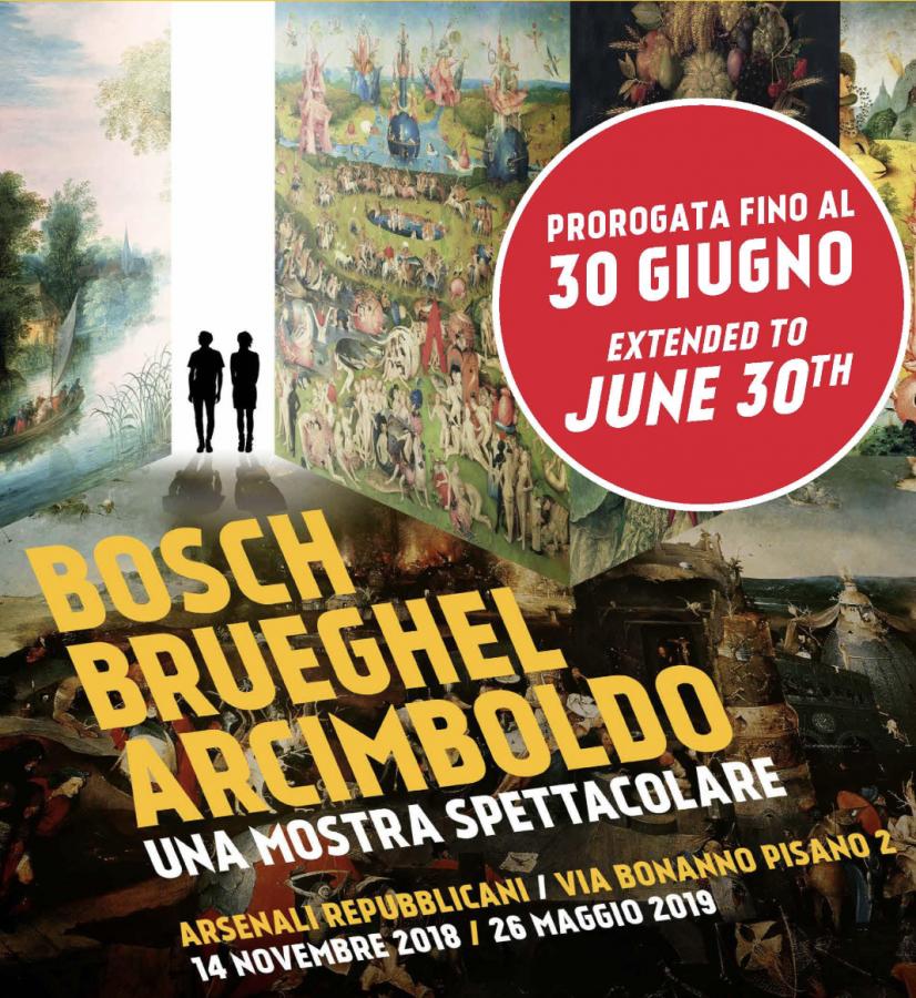 """""""Bosch, Brueghel, Arcimboldo. Una mostra spettacolare"""" fino a giugno"""