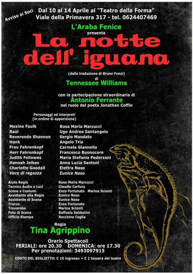 """Teatro della Forma di Roma: """"La notte dell'iguana"""" in scena fino ad oggi"""