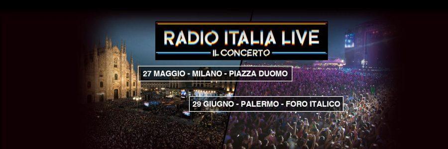 """""""Radio Italia Live – Il Concerto"""": doppia edizione a Milano e Palermo"""
