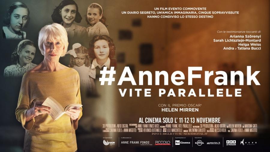 """""""#AnneFrank – Vite parallele"""" il film al cinema 11, 12 e 13 novembre"""