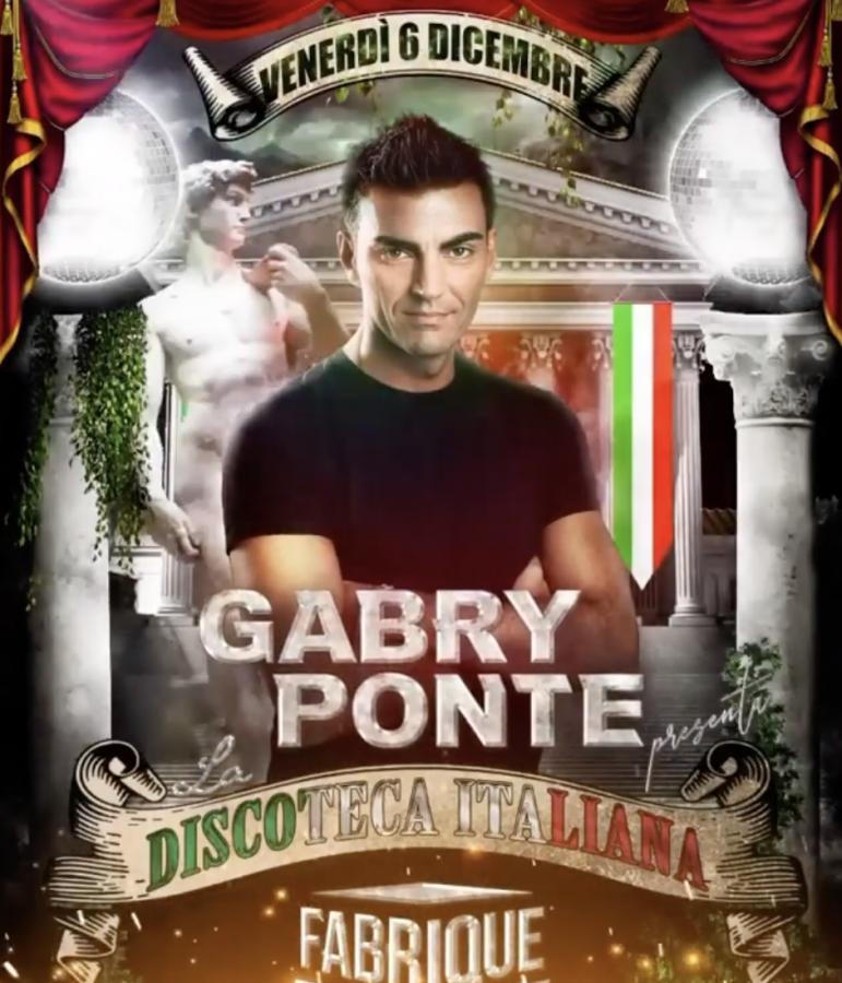"""""""La Discoteca Italiana"""": Gabry Ponte pronto a far ballare il Fabrique di Milano"""