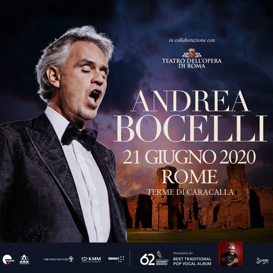 Andrea Bocelli accende l'estate 2020 alle Terme di Caracalla