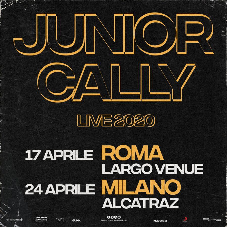 Junior Cally butta la maschera e annuncia due date nel 2020
