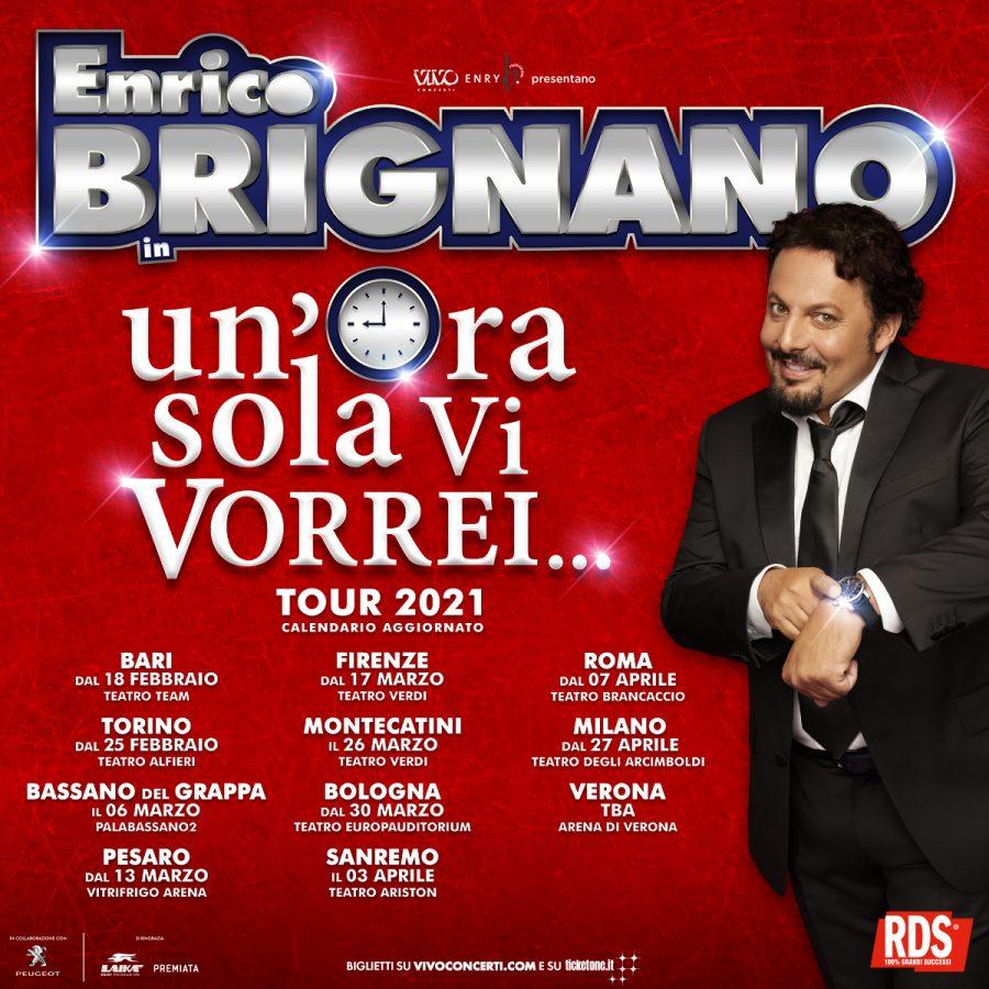 """Enrico Brignano: posticipato al 2021 lo show """"Un'ora sola vi vorrei"""""""