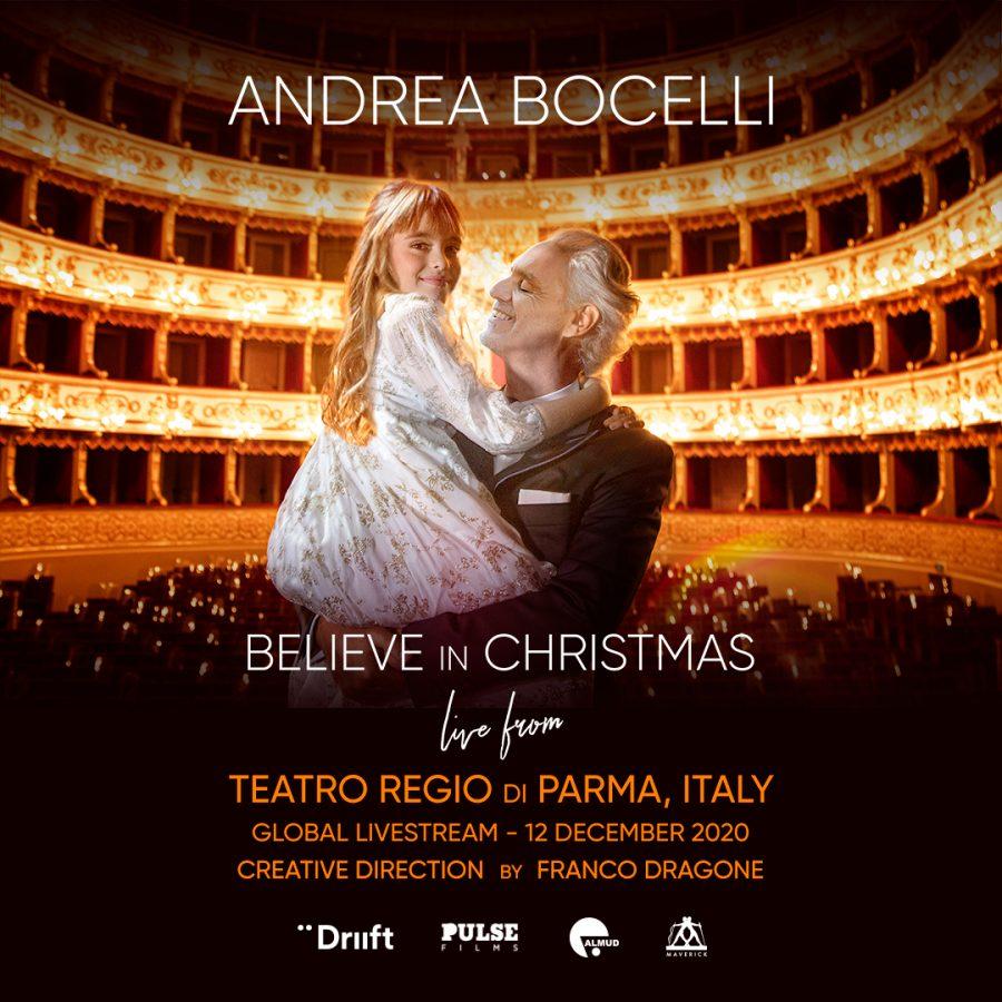 """Andrea Bocelli accende la magia del Natale con """"Believe in Christmas"""""""