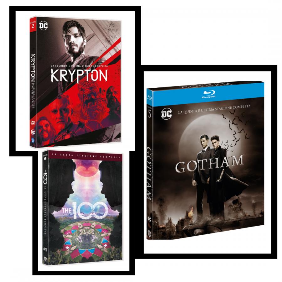 """""""Gotham"""", """"Krypton"""" e """"The 100"""" arrivano in DVD e Blu-Ray"""