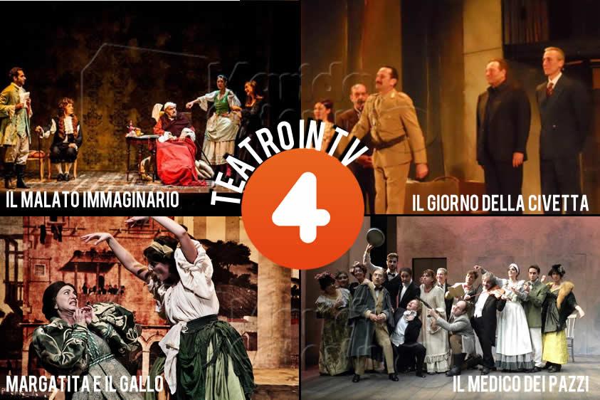 """""""Teatro in TV"""": arriva su Rete 4 la rassegna con 5 produzioni teatrali"""