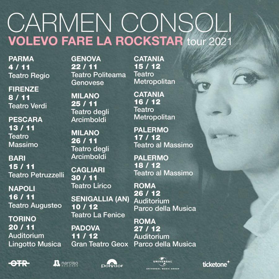 """Carmen Consoli: il ritorno sul palcoscenico da vera """"rockstar"""""""