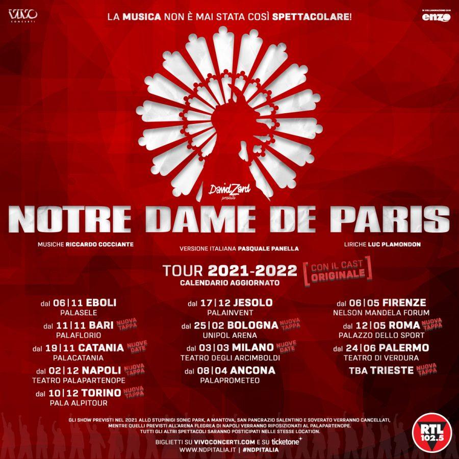 """""""Notre Dame De Paris"""": il famoso spettacolo torna il prossimo anno"""