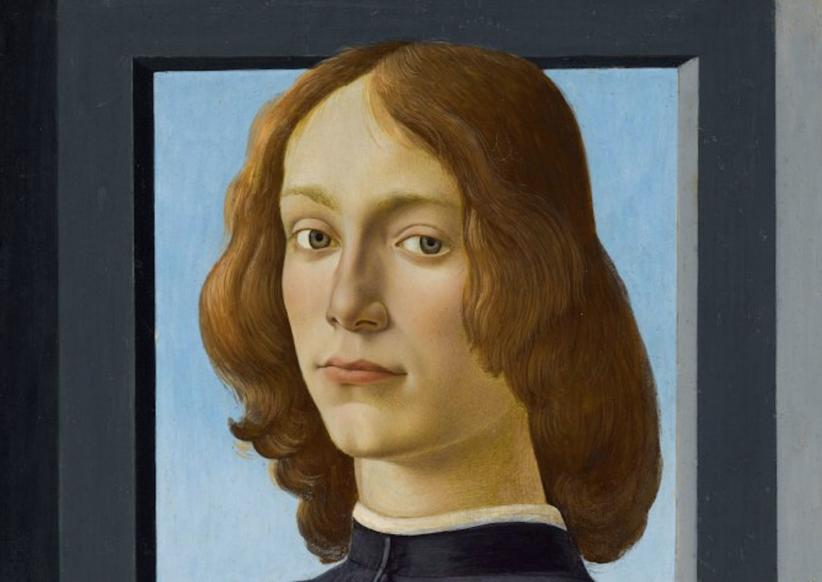 """Botticelli: asta record per il """"Ritratto di giovane con tondo di santo"""""""